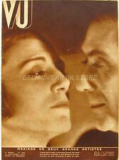 Magazine VU n°340 -  Mariage de Mary Marquet et Victor Francen - Les Geishas