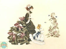 Cross Stitch Chart / Pattern Lavender & Lace Little Wings Mother & Daughter #LL4