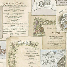 WALLPAPER SAMPLE French & English Antique Kitchen Menus