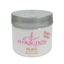 nsi Attraction Nail Acrylic Powder Radiant White 1.4 oz 40g