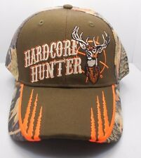 Deer Buck Hardcore Hunter Hunting Ball Cap Hat New Brown & Camo HH-8