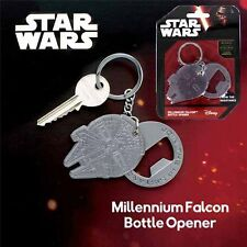 Star Wars millennium Falcon Bottle opener with Join the resistance keychain