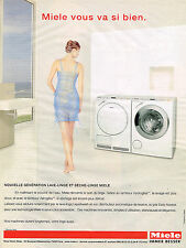 PUBLICITE ADVERTISING 045  2005  MIELE   lave- linge  sèche- linge