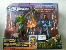 MASTERS OF THE UNIVERSE CLASSICS VS DC UNIVERSE CLASSICS; LEX LUTHOR VS SKELETOR