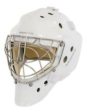 New Vaughn 7700 Cat Eye goal helmet white senior large Sr ice hockey goalie mask