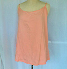 Pretty Pink Feminine Cami Camisole Top Size 4X 26W-28W Stretch Cotton NWT