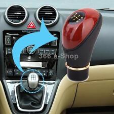 Pomello Leva Cambio 13mm Per Auto Universale Tuning In Legno PU Rosso Nero