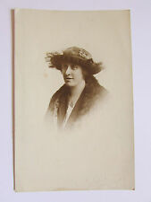 Antique Original Photograph Of Lady, By W. J. Carter, Rochdale