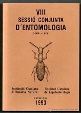 ENTOLOMOGIA - INSECTOS - SESSIO CONJUNTA D´ENTOMOLOGIA - 1993 - VIII - EN CATALA