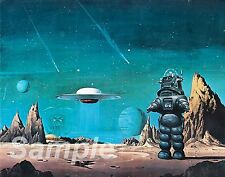 VINTAGE FORBIDDEN PLANET MOVIE POSTER A3 PRINT