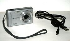 Olympus T-100 Silver 12MP AF 3X Optical Zoom Digital Camera Bundle USB Cable