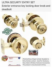 ULTRA SECURITY ENTRY SET Exterior entrance key locking door knob and deadbolt