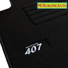Tapis De Sol Peugeot 407 + 407sw Sw 2004 à 2011 Velours Edition Logo Brodé NEUFS