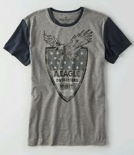 NWT Mens American Eagle AEO Signature Graphic Tee T-Shirt - Heather Gray - XXXL