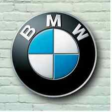 BMW LOGO 2FT LARGE GARAGE SIGN WALL PLAQUE CAR CLASSIC WORKSHOP MECHANIC M3 M5