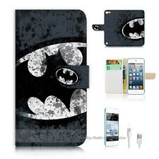 iPod Touch 5 iTouch 5 Flip Wallet Case Cover! S8183 Batman