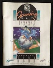 1993 Florida Marlins Opening Day Program 4/5/93 1st Home Game in Team History