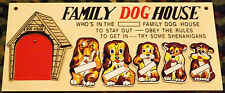 THEY'RE BACK!! NIB Vintage Style Family Dog House Wall Plaques FREE SHIPPING