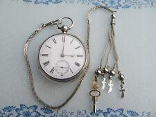 BIG ANTIKE LONDON TASCHENUHR SPITZANKER POCKET WATCH  懐中時計