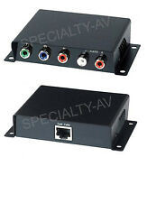 NEW HD Component Video Stereo L/R RCA Audio Balun Extender over single Cat 5e/6