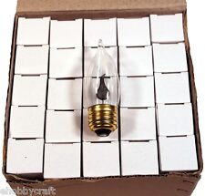 Flicker Flame Light Bulbs ~Standard (Medium) Base #10J ~Box of 25 Bulbs~