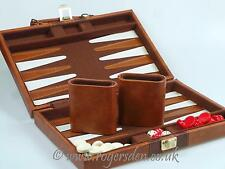 Travel Backgammon  In Faux Leather Case