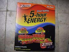 New !  24 PK  5-Hour Energy - Berry 1.93 oz.  No Sugar Crash Red 7B