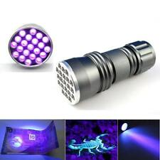 UV Ultra Violet 21 LED Flashlight Blacklight Aluminum Torch Super Light Lamp