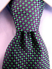 Men's Andrew's Ties Beautiful Green-Blue Silk Classic Tie Made in Italy 19458