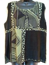 T392~TIENDA HO~Black~FANCY TANK TOP~Nothing Matches~RAYON~floral~STUNNING~OS
