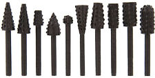 New 10pc ALLOY STEEL WOOD RASP BURR SET FITS DREMEL RA8112