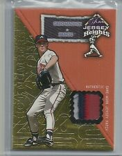 2002 Flair - GREG MADDUX - Jersey Heights Hot Numbers Game Jersey Patch #d95/100