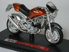 Maisto 1:18 Diecast Orange Ducati Monster S4 Motorcycle Bike with Display Stand