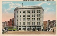 The Diamond Showing Little Building East Liverpool OH Postcard 1920