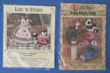 12 Vintage Primitive Folk Art Craft Patterns For Wood and Combined Wood & Fabric