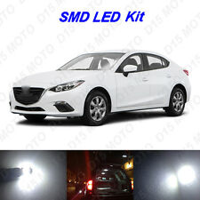 8 x White LED interior Bulbs + Reverse + Tag Lights for 2014-2016 Mazda 3 SEDAN