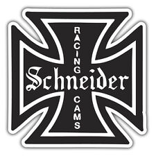 Schneider Racing Levas Auto Adhesivo Iron Cross / Retro Vintage Diseño 85 X 85mm