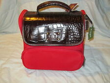 Rowallan Danielle Deluxe Train Case Boarder Bag Cosmetic Carry On Luggage NEW