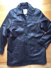 Andrew Marc Womens Black Leather Coat Jacket. Size Medium.
