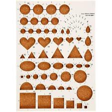 Quilling Board Cork 21x15cm Make Assorted Shapes Hearts/Circles/Squares/Teardrop