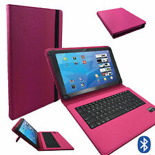 Bluetooth  Tablet Tasche -  Samsung Galaxy Note 2014 Hülle Tastatur  Pink 10.1