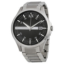 Armani AX Exchange Whitman Black Dial Stainless Steel Mens Watch AX2103