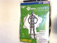 Boy Medium 8 Camouflage Green Black MORPH Halloween Costume Dress Up morphsuits