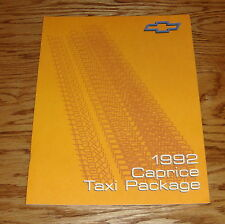 Original 1992 Chevrolet Caprice Taxi Package Sales Brochure 92 Chevy