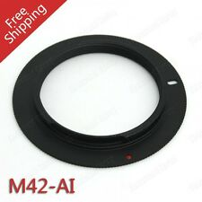 M42 Lens To Nikon AI Mount Adapter D7100 D7200 D750 D810 D610 D3300 UK Seller