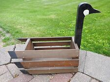 "Canada Goose Planter Decorative Box Wood Large 20"" Yard Patio Home Decor"