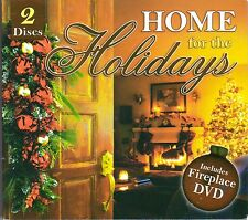 HOME FOR THE HOLIDAYS CHRISTMAS CHILL JAZZ DINNER PARTY MUSIC CD & FIREPLACE DVD