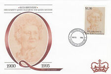(94805) FDC St Vincent Queen Mother 95th Birthday 1995.