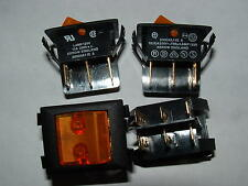 15 Flecha Doble Polo 10a Rocker Switch aislados 125 V Naranja Neón 2000xa11e