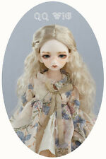 QQ8-01 5~6 inch Synthetic mohair Wig  fit 1/8 BJD Doll Light Gold color